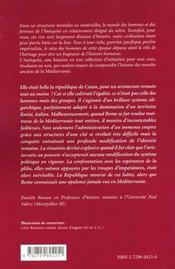 Rome: la république impérialiste (264-27 av J.-C.)) - 4ème de couverture - Format classique
