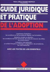 Guide Juridique Et Pratique De L'Adoption - Intérieur - Format classique
