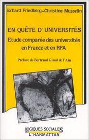 En quête d'universités ; étude comparée des universités en France et en RFA - Intérieur - Format classique