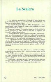 La Scalera - 4ème de couverture - Format classique
