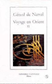 Voyage en orient t.2 - Couverture - Format classique
