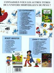 Les Schtroumpfs t.20 ; la menace Schtroumpf - 4ème de couverture - Format classique
