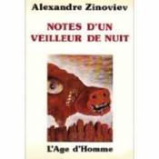 Notes D'Un Veilleur De Nuit - Couverture - Format classique