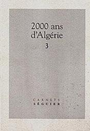 2000 Ans D'Algerie Tome 3 - Couverture - Format classique