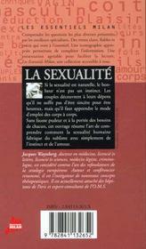 La sexualite - 4ème de couverture - Format classique