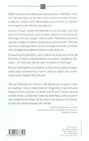 La derniere valse de mathilda - 4ème de couverture - Format classique