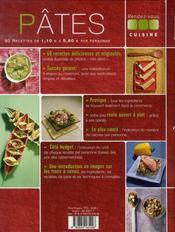 Pâtes - 4ème de couverture - Format classique