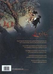 Luuna t.2 ; le crépuscule du lynx - 4ème de couverture - Format classique