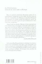 Christianisme Ferment De Nouveau En Europe - 4ème de couverture - Format classique