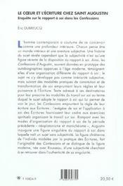 Le Coeur Et L'Ecriture Chez Saint-Augustin - 4ème de couverture - Format classique