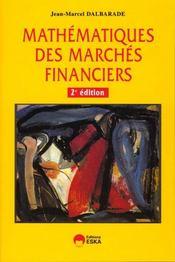 Mathematiques des marches financiers - Intérieur - Format classique