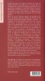 Giordano bruno apres le bucher - 4ème de couverture - Format classique
