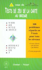 Tests De Jeu De La Carte Au Bridge - Intérieur - Format classique