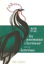 Les animaux s'écrivent ; lettrines - Intérieur - Format classique