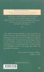 Le Rif - 4ème de couverture - Format classique