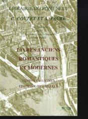 Catalogue N°126. Livres Anciens Romantiques Et Modernes. Livres Illustres, Editions Originales. - Couverture - Format classique