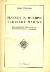 Elementi Di Macchine Termiche Marine - Couverture - Format classique
