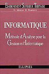 Informatique Methode D'Analyse Pour La Gestion Et L'Informatique - Intérieur - Format classique