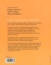 Lecons De Microeconomie Evolutionniste - 4ème de couverture - Format classique