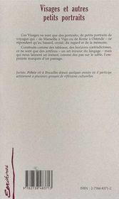 Visages Et Autres Petits Portraits - 4ème de couverture - Format classique