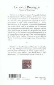 Le Vieux Rouergue - 4ème de couverture - Format classique