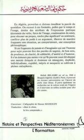 Proverbes et dictons algériens - 4ème de couverture - Format classique
