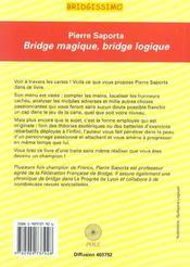 Bridge Magique ; Bridge Logique - 4ème de couverture - Format classique