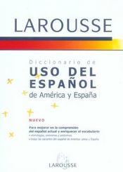 Diccionario De Uso Del Espanol De America Y Espana - Intérieur - Format classique