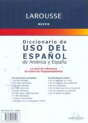 Diccionario De Uso Del Espanol De America Y Espana - 4ème de couverture - Format classique