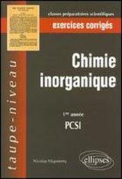 Inorganique - Couverture - Format classique