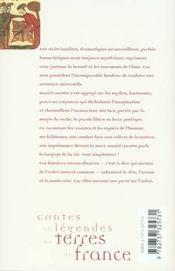 Contes Et Legendes En Terres De France - 4ème de couverture - Format classique