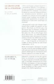 Le grand livre de la stratégie ; de la paix et de la guerre - 4ème de couverture - Format classique