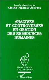 Analyses et controverses en gestion des ressources humaines - Intérieur - Format classique
