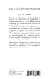 Une Valse Noire - 4ème de couverture - Format classique
