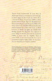 Cite Des Hommes, Le Chapitre Cathedrale De Rodez (1215-1562) - 4ème de couverture - Format classique