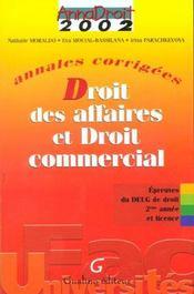 Anna droit 2002- droit des affaires et droit commercial - Intérieur - Format classique