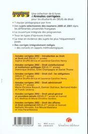 Anna droit 2002- droit des affaires et droit commercial - 4ème de couverture - Format classique