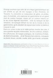 Toscane(S) - 4ème de couverture - Format classique