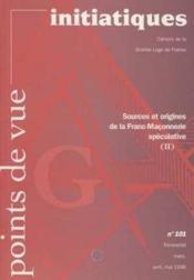 Revue Points De Vue Initiatiques:sources/origine De La Franc-Maconnerie N.101 - Couverture - Format classique