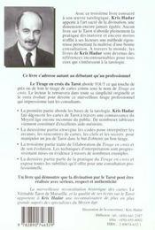 Le Tirage En Croix Du Tarot - Methode Pratique D'Art Divinatoire - 4ème de couverture - Format classique