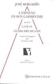 Espagne En Son Labyrinthe Theatral Du Xviieme (L') - Couverture - Format classique