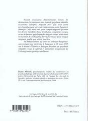 Theorie Et Therapie Des Etats De Psychose Infantile - 4ème de couverture - Format classique