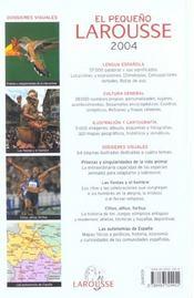 El pequeño Larousse ilustrado (édition 2004) - 4ème de couverture - Format classique