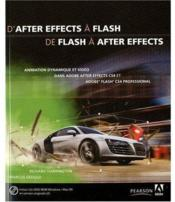 Vente livre :  D'after effects à flash ; de flash à after effects  - Harrington/Geduld