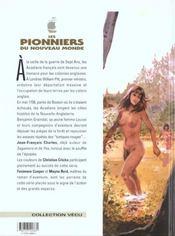 Les pionniers du nouveau monde t.3 ; le champ d'en-haut - 4ème de couverture - Format classique