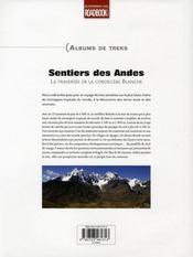 Le sentier des andes - 4ème de couverture - Format classique