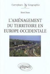 L'aménagement du territoire en Europe occidentale - Intérieur - Format classique