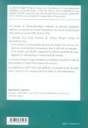 Thermodynamique ; 1re année mpsi, PCSI, PTSI - 4ème de couverture - Format classique