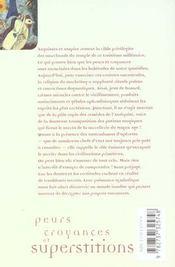 Peurs, croyances et superstitions - 4ème de couverture - Format classique