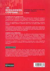 Les intelligences citoyennes - 4ème de couverture - Format classique